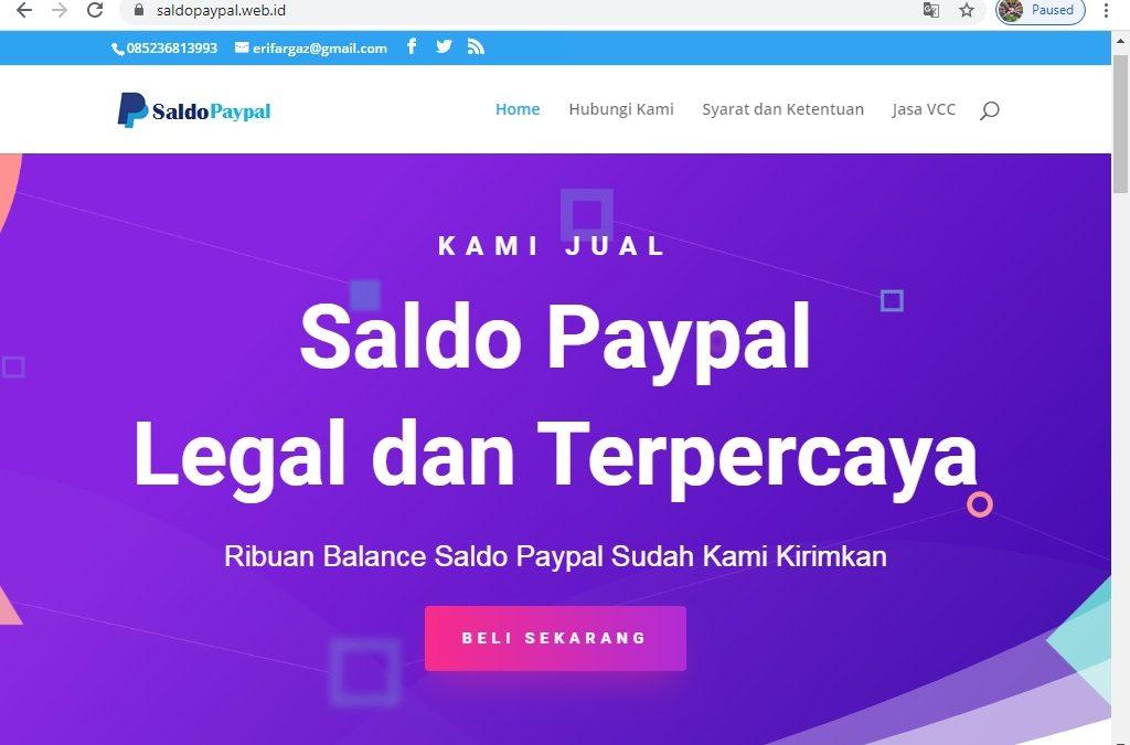 Syarat dan Ketentuan Pembelian / Topup Saldo Paypal Murah