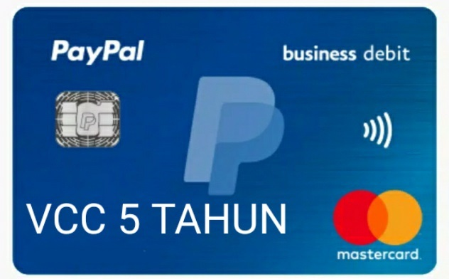 VCC PAYPAL 5 TAHUN : RP. 75.000